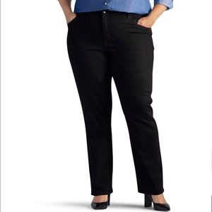 St. John's Bay Mid Rise Stretch Straight Leg Jean